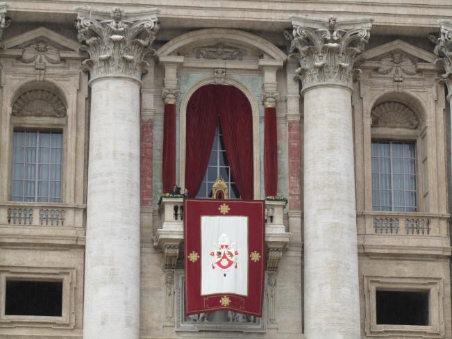 Pope Benedict XVI's balcony